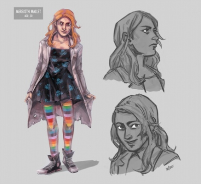 Art by Stefanie M. - Character concept for Meredith