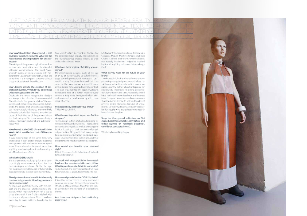 DZHUS - URBAN COCO Magazine (UK)