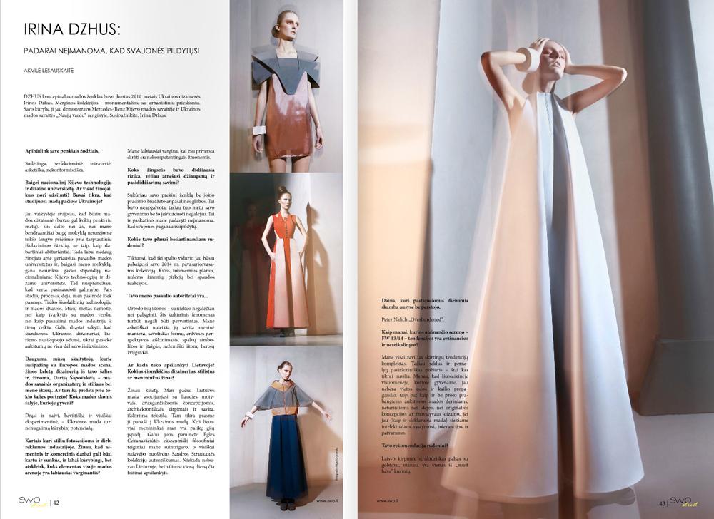DZHUS - Swo Street Magazine (Lithuania)