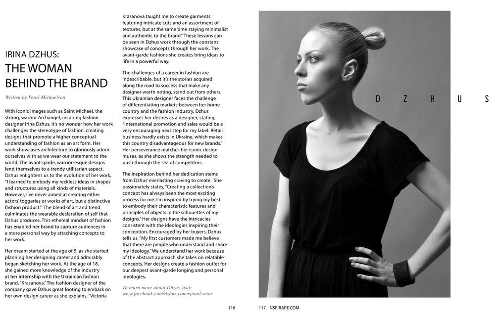 DZHUS - INSPIRARE Magazine (USA)