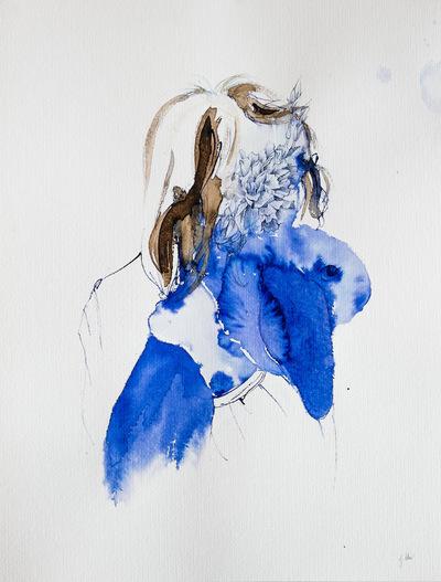 Juliette Choné - Doudou, 2013, Stylo bille et Encre sur papier 50X65cm