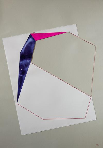 Juliette Choné - Le Cri - Diptyque partie gauche, 2012, encre, posca et crayon de couleur sur papier, 75x106 cm