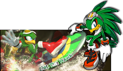 Jérémies portofio - Sonic riders - Jet the Hawk