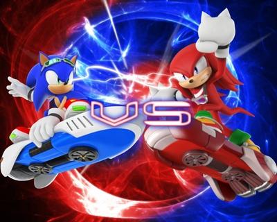 Jérémies portofio - Sonic Riders - Sonic x Knuckles