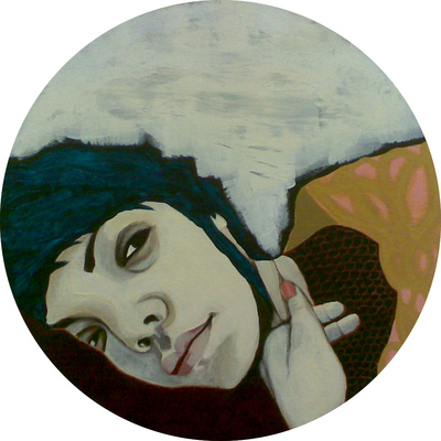 Elena Krokotiili - Selfportrait with blue hair