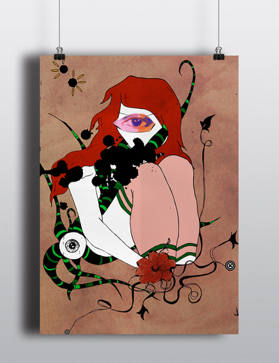 Dizzypink Design and Illustration - Mixed Media Illustration