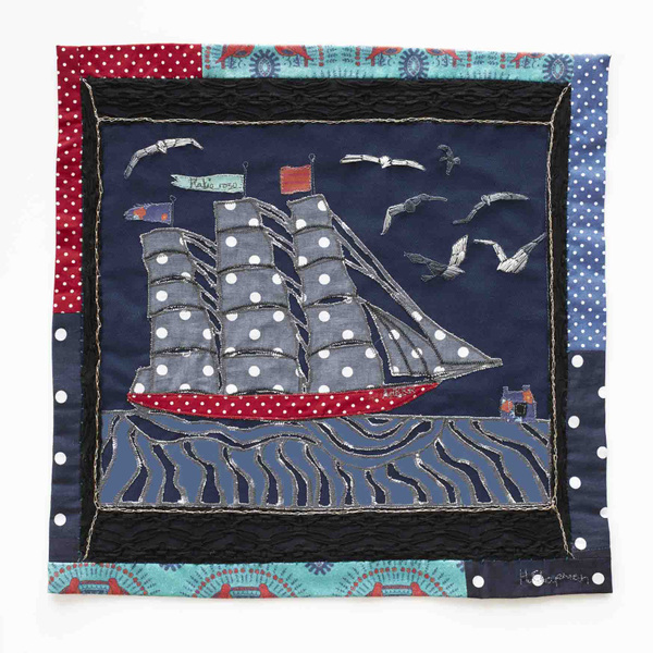 Harriett Chapman Designs - Free hand embroidery on the sewing machine from Coming home series.