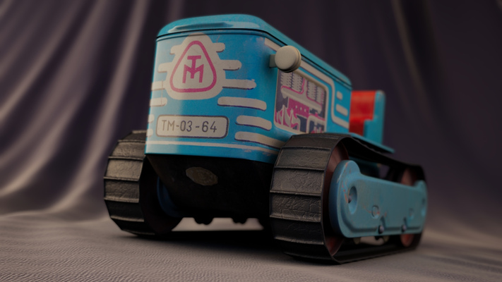 Simeon Patarozliev 3D Artist and Photographer - Tractor Toy
