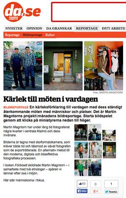 Fotograf Martin Magntorn - Publicerade bilder i Dagens Arbete från projektet Myrstigar. (2013)