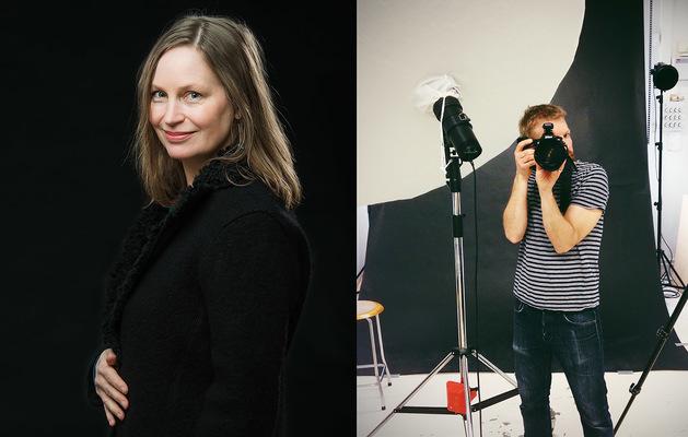 Fotograf Martin Magntorn - Författare Emma Fäldt som vände mobilen åt mitt håll efteråt