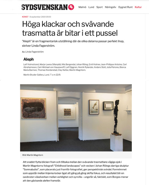 Fotograf Martin Magntorn - Review / Martin Bryder Gallery group show (extract)