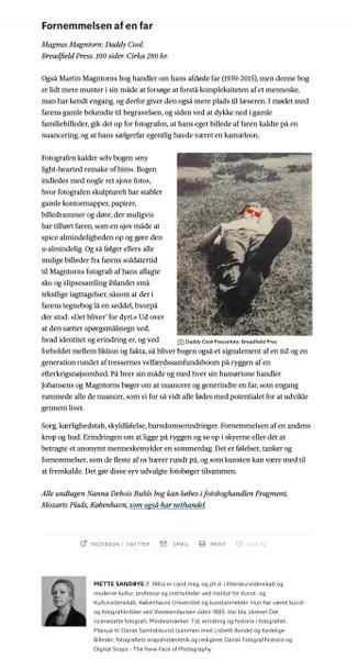 Fotograf Martin Magntorn - Review / Photobook / Daddy Cool, Weekendavisen, Denmark, 2020