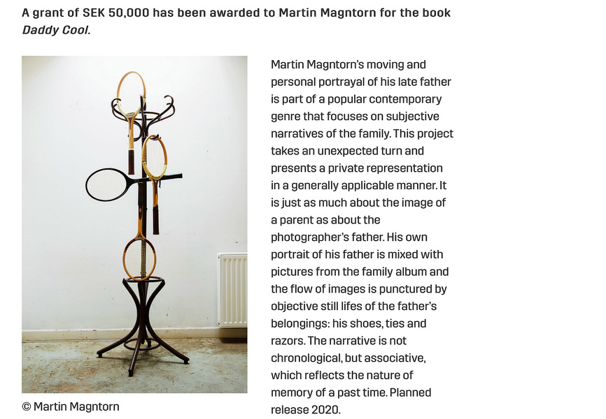 Fotograf Martin Magntorn - Motivation, Hasselblad Foundation, Photo Book Grant, 2020