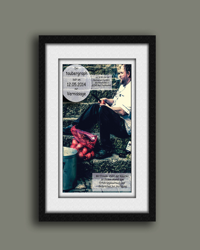 taubergraph - plakat ausstellung restaurant Jordans mai 2014