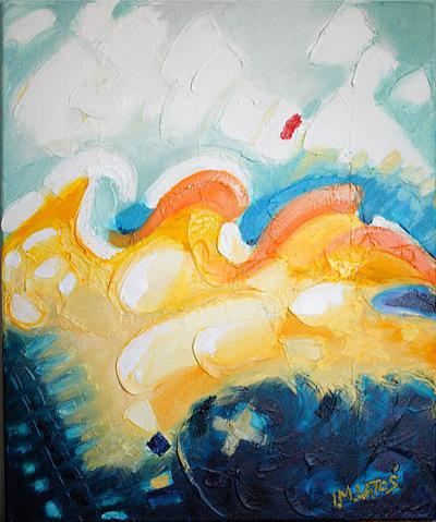 izabelalatos - Waves 3. 46 x 38 cm oil on canvas