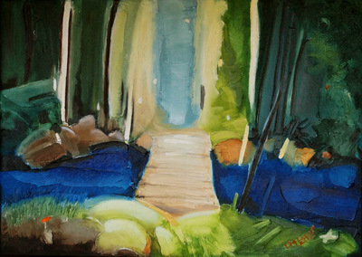izabelalatos - The breath of the forest. 70 x 50 cm oil on canvas