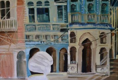izabelalatos - Pushkar. Rajasthan 3. India 2016. 80 x 100 oil on canvas