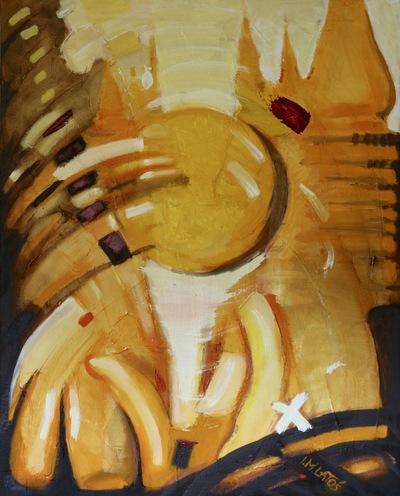 izabelalatos - I the sun. Rajasthan 2. India 2016. 80 x 65 cm oil on canvas