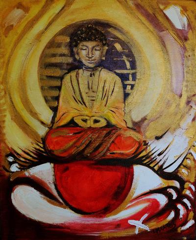izabelalatos - The space around me, Buddha. 100 x 80 cm oil on canvas