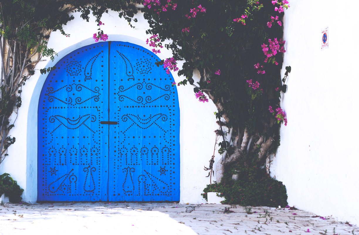 Photography by Ine PH. - A typical tunisian door // 2013