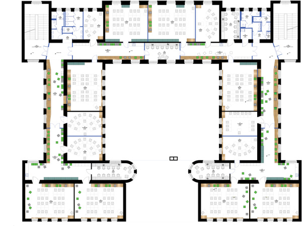 FLÓ Architects - 2nd floor plan-secondary school concept layout