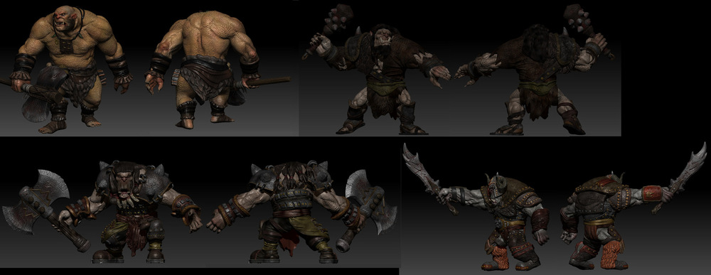 Steven Babb - 3D Design - Wizards of the Coast Promotional Video - I did the texture painting for the Orcs