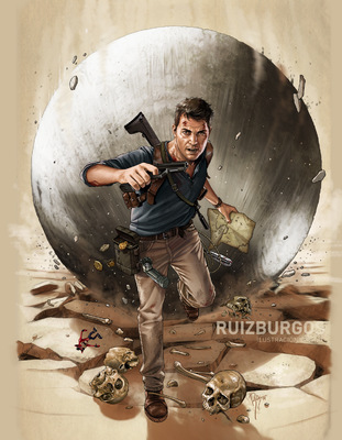 RUIZ BURGOS - UNCHARTED 4 - THE GAME cover
