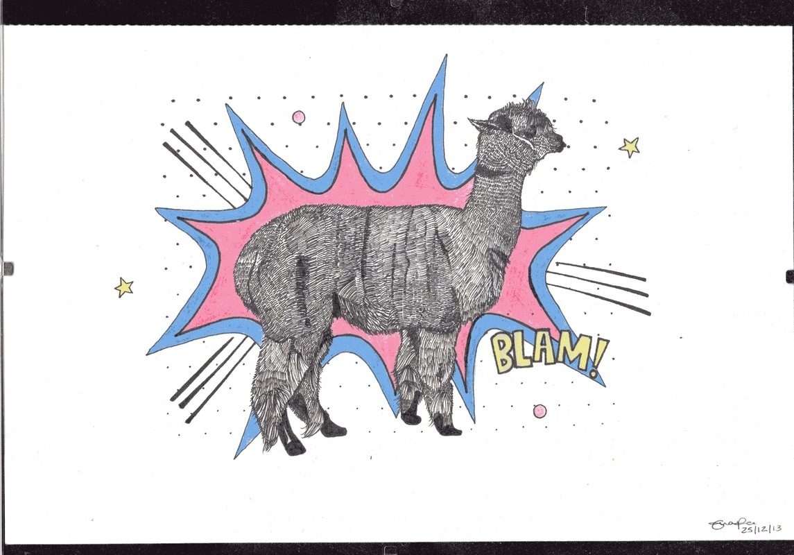 emma pryce illustration - Llama