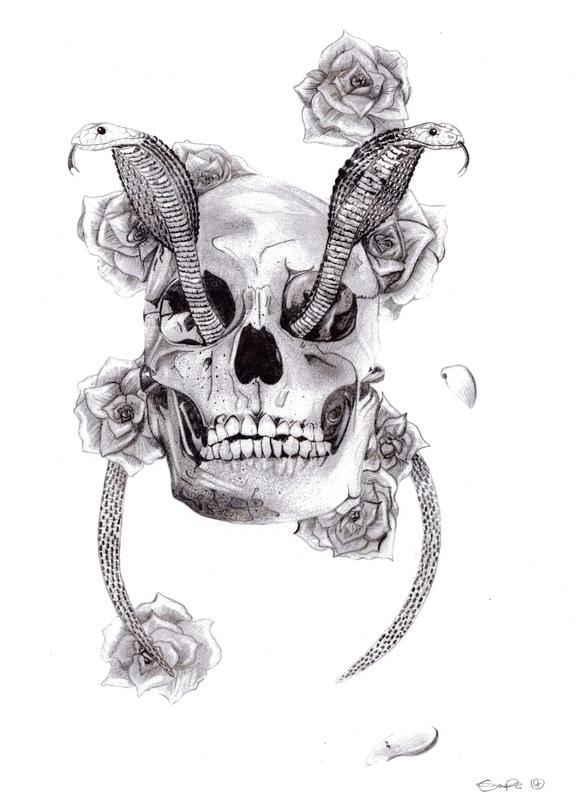 emma pryce illustration - Snakes & Skull