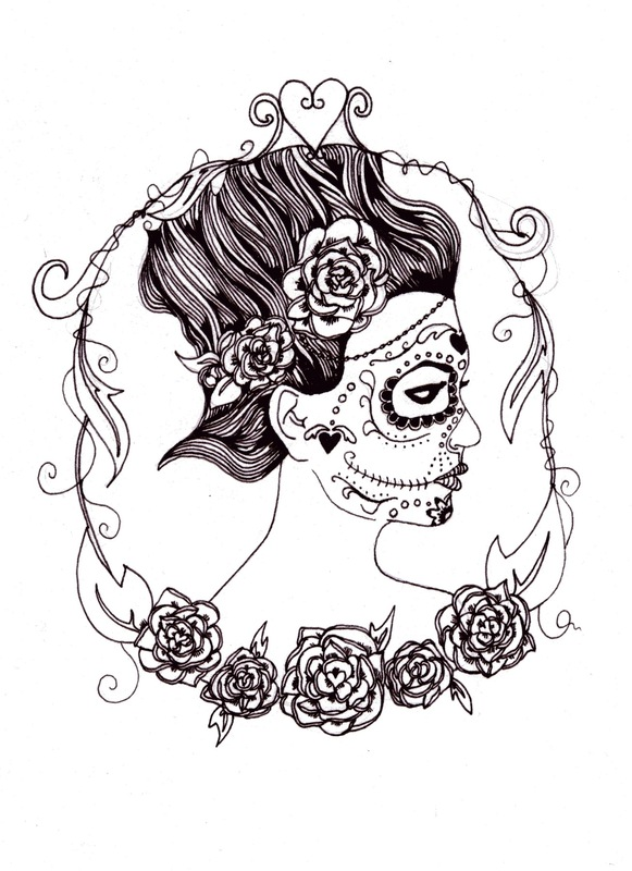 emma pryce illustration - Sugar Skull