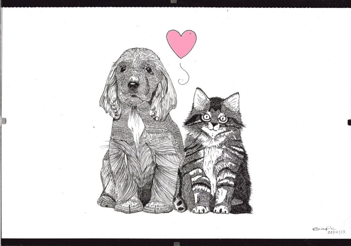 emma pryce illustration - Cat & Dog