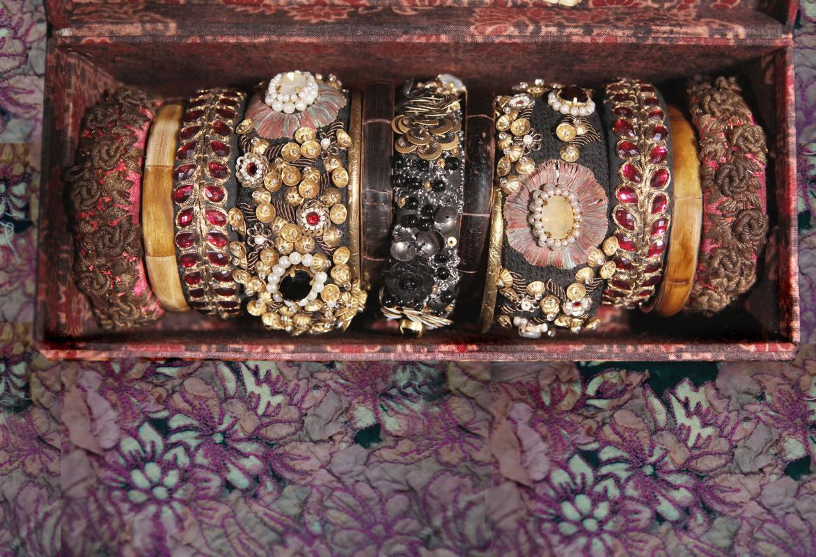 Natasha May Platt - All items designed for Sabyasachi Couture, Kolkata, India