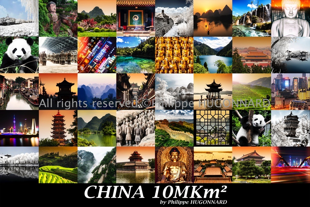 Philippe Hugonnard Photography - China 10MKm² Collection - by Philippe HUGONNARD Inside, you will find some of the country's most breathtaking landscapes, covering an area of over 10 million square kilometers. You might discover the lakes of the Jiuzhaigou natural reserves, the rice fields of Ping'an, the Li River, and the exceptional mountains of the Yangshuo region, or rediscover legendary sites; in particular the Great Wall of China, Beijing's Forbidden City, and the Terracotta army of Xi'an. On the fauna and flora front, I hope you enjoy my take on local monkeys and pandas, or the gorgeous Chinese gardens which hide treasures in the form of temples and water cities. Last but not least, I invite you to dive into the bright lights of Shanghai, where culture and modernity blend beautifully to animate the vibrant megalopolis day and night. China 10MKm² Collection available on Allposters.com / Art.com / Greatbigcanvas.com / icanvas.com