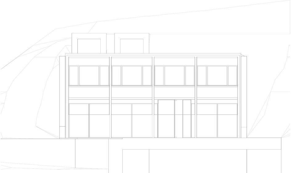allenarchitettura - I criteri di localizzazione dell'edificio sul lotto e quelli di distribuzione delle sue parti sono stati accuratamente valutati secondo criteri di architettura bioclimatica, ovvero prestando una particolare attenzione al rapporto tra edificio e geometrie solari.