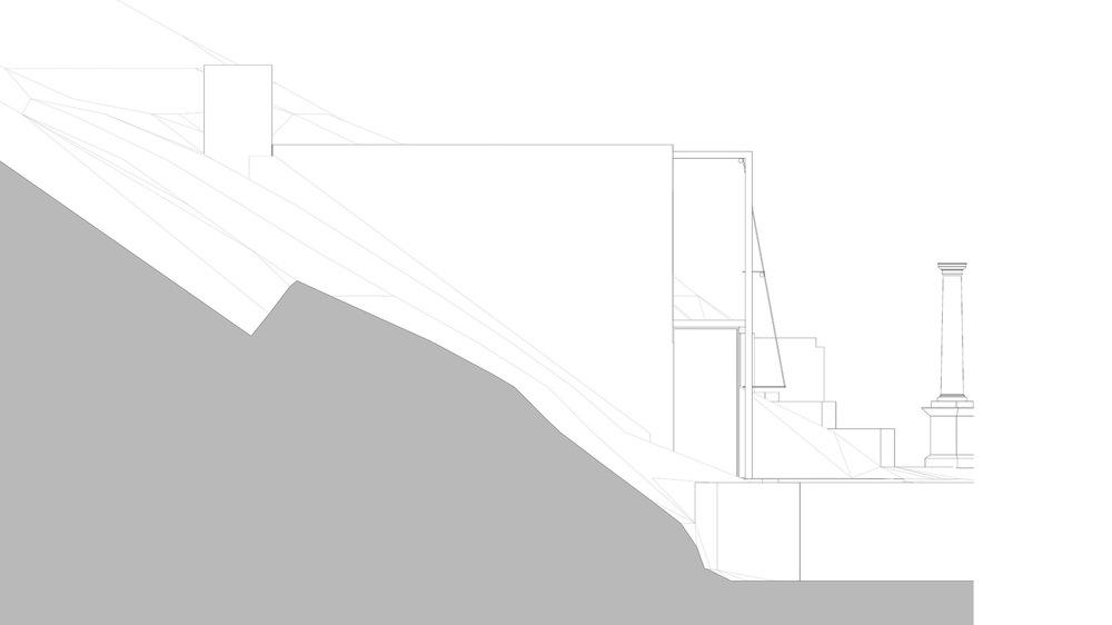 allenarchitettura - Il leggero porticato a sud ospita I sistemi di controllo del soleggiamento estivo (frangisole orizzontale fisso e tenda a rullo verticale governata da un sistema automatizzato). In questo modo gli ambienti sono ombreggiati costantemente durante la tarda primavera e usufruiscono del diritto al sole durante l'intero corso dell'anno.