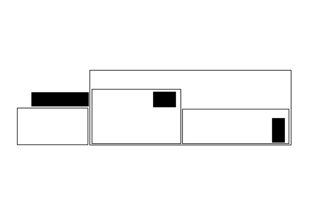 allenarchitettura - CASA D'ABITAZIONE AD ARZAGO D'ADDA Nel grande spazio aperto a doppia altezza, che era in passato il vecchio cinema del paese, si distribuiscono liberamente gli spazi di abitazione affacciati su una corte interna alberata e protetti da un porticato in acciaio zincato e legno. Lo spazio del sonno è nel soppalco in che si raggiunge con una scala lineare. Una passerella appesa alla trave di colmo e affacciata sul soggiorno unisce la zona notte con la cabina armadio.