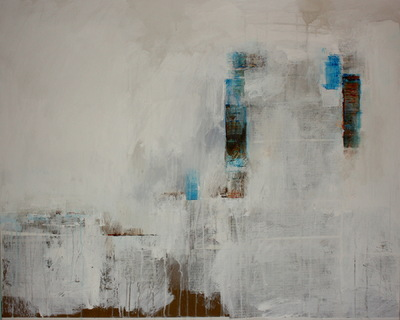 Haydn Dickenson - Artist - Her Colours Linger In The City Mist: Remembrance SOLD