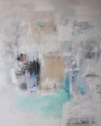 Haydn Dickenson - Artist - Shades of Blue and Green:Homage to Hans G SOLD