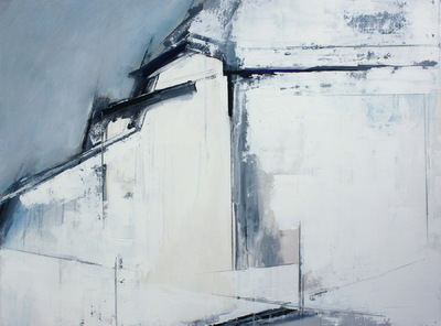 Haydn Dickenson - Artist - Grey And White 101x76cm unframed