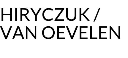 HIRYCZUK / VAN OEVELEN