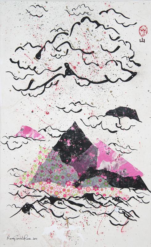 ArtByRemy - Montagnes roses et noires