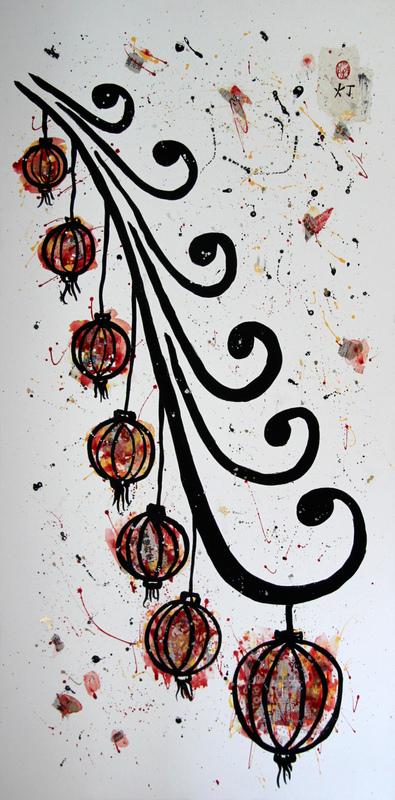 ArtByRemy - Grappe de lanternes