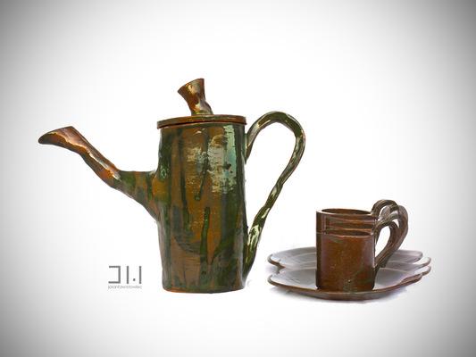 Jolanta Wołowiec - czajniczek i filiżanki do kawy
