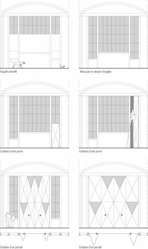 dumas-architectures Lyon - Projet de modification des façades et des portes.