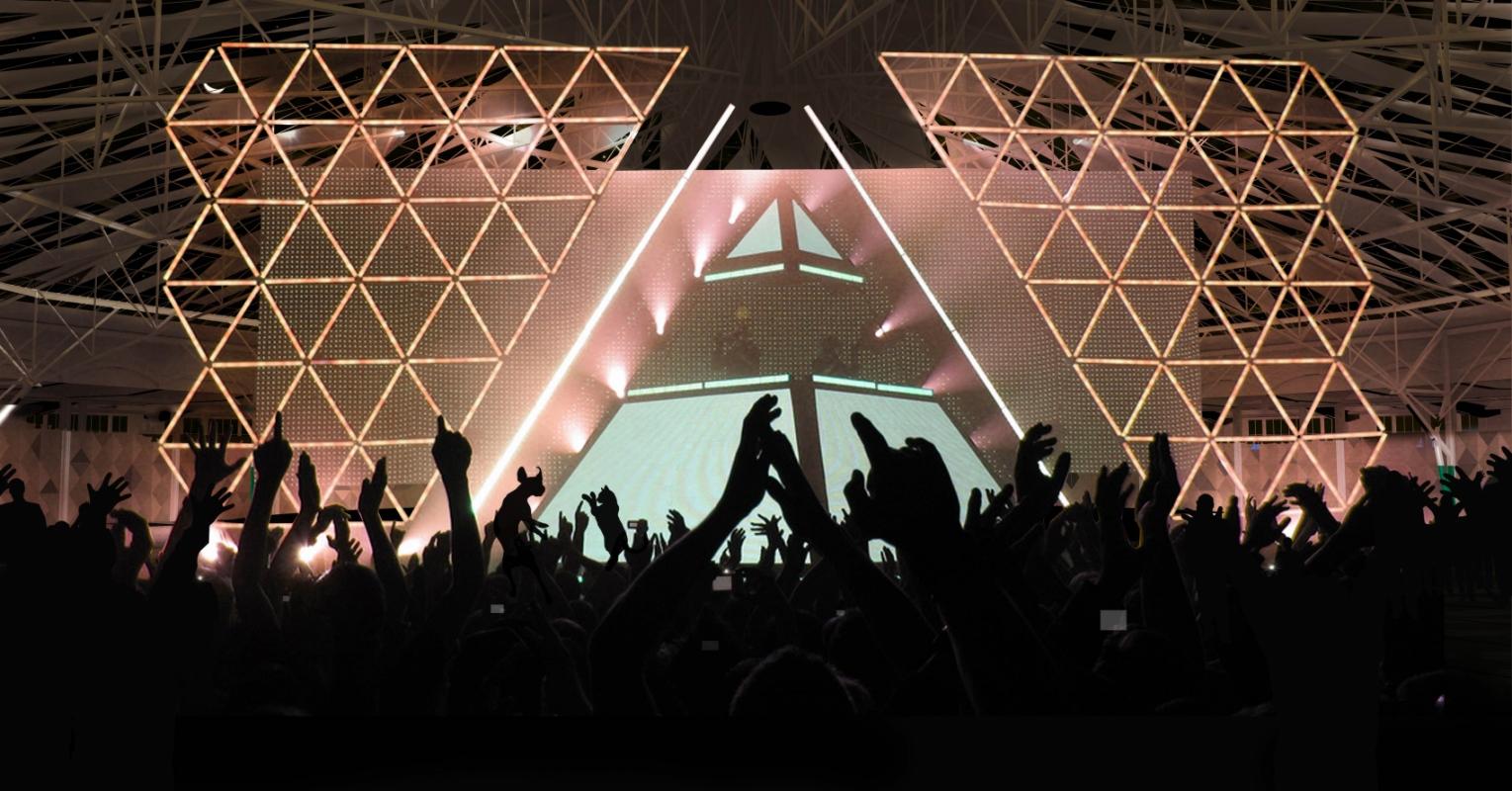 dumas-architectures Lyon - Et si Daft Punk venait en concert sous l'espace cathédrale de la rotonde de Grigny.