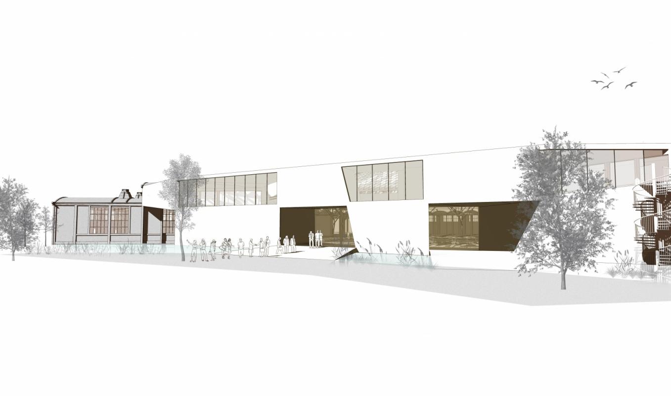 dumas-architectures Lyon - Foyer des artistes et nouvelle entrée de la rotonde.