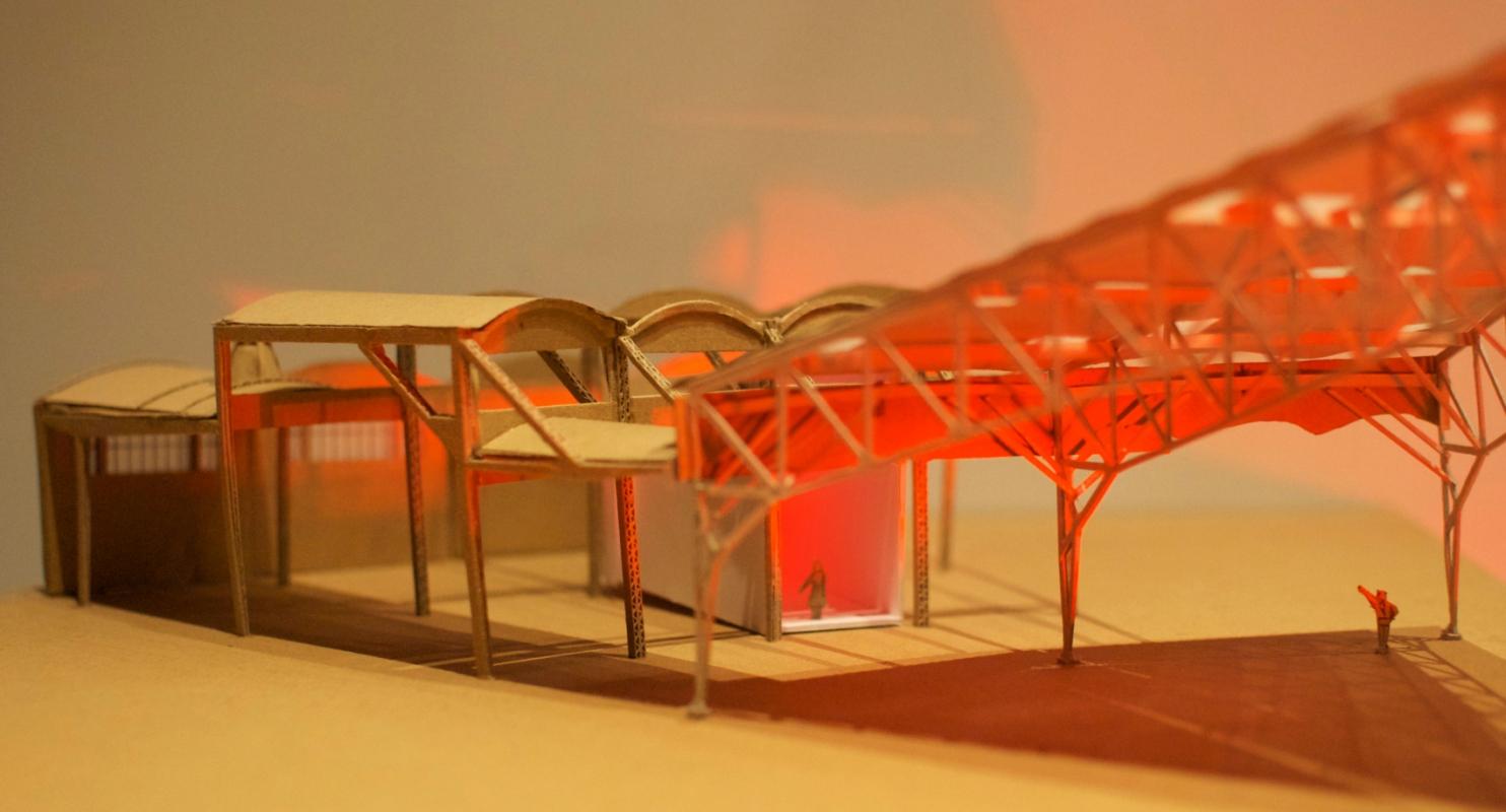 dumas-architectures Lyon - Photo de la maquette - 2013 création d'un «seuil» à la rotonde.