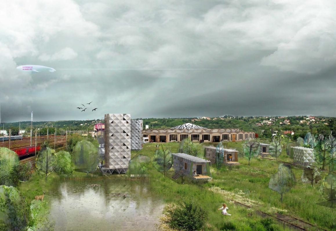 dumas-architectures Lyon - Image sur le parc habité de la rotonde