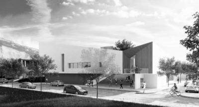dumas-architectures Lyon - CONSTRUCTION D'UNE MEDIATHEQUE, D'UNE SALLE POLYVALENTE ET D'UN ESPACE JEUNESSE - MONTBONNOT-SAINT-MARTIN