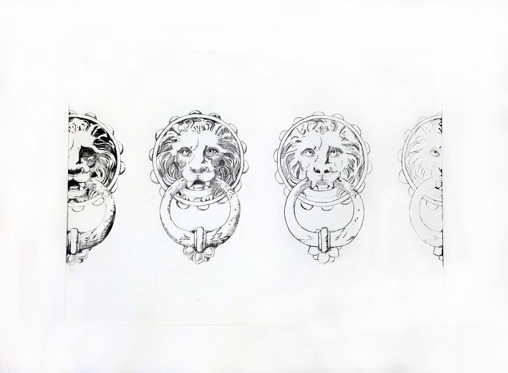 Luana Cruciato - Sans titre Gravure sur plexi 40cm x 60cm 2013
